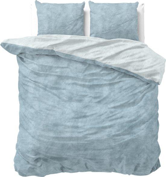 Sleeptime Katoen Twin Washed Cotton - Dekbedovertrekset - Lits-Jumeaux - 240x200/220 + 2 kussenslopen 60x70 - Blauw