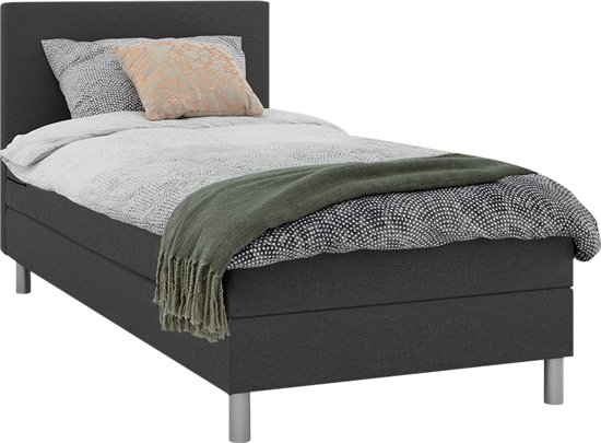 Beter Bed Hoofdbord.Beter Bed Basic Boxspring Cisano Eenpersoons 90x200cm Anouk Antraciet