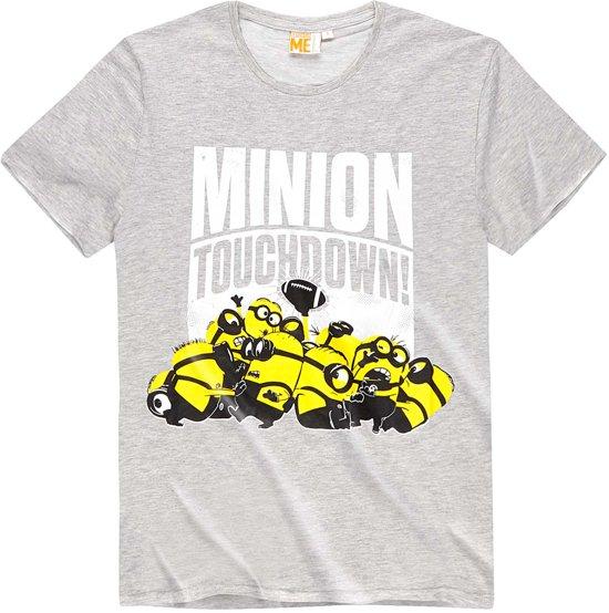 Minions-T-shirt-met-korte-mouw-grijs-maat-L