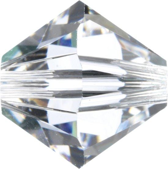 Swarovski 5328 Xilion Facet kraal 4mm Crystal