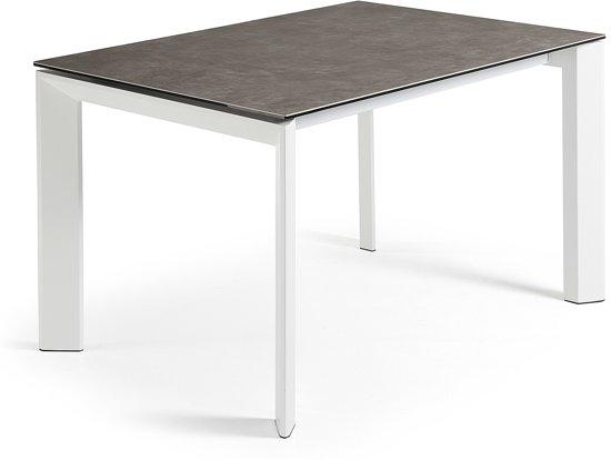 Uitschuifbare Eettafel Wit.Uitschuifbare Eettafel Atta Wit Vulcano Ceniza 120 180x80