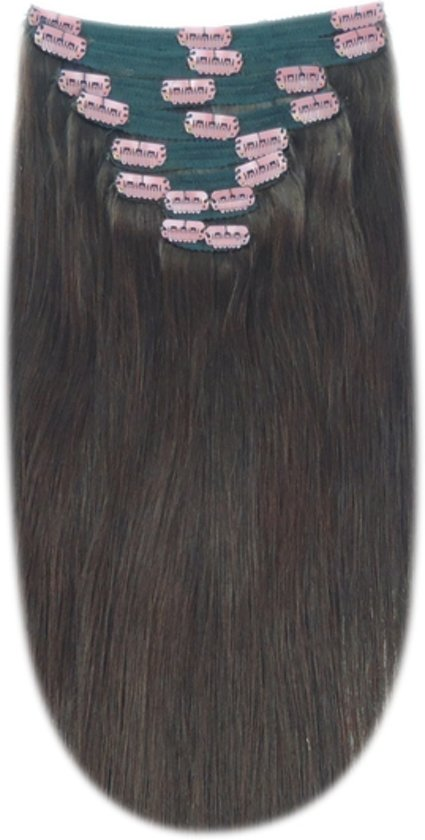 Remy Human Hair extensions Double Weft straight 22 - bruin 3#