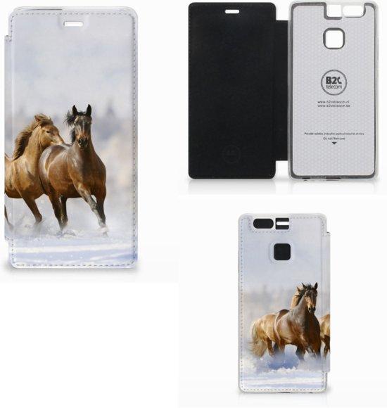 Huawei P9 Uniek Hoesje Paarden in Beek