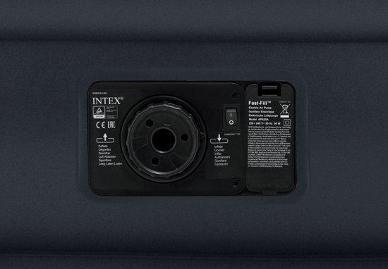 Intex Deluxe Pillow Rest Airbed Queen Dark Grey