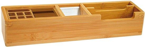 bamboe bureau organizer lang. Black Bedroom Furniture Sets. Home Design Ideas