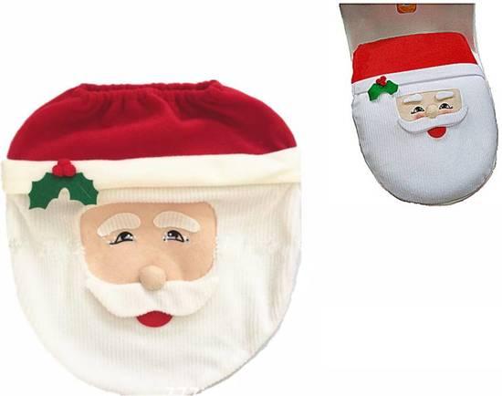 Kerstdecoraties Met Rood : Bol.com kerstversiering cover voor toiletdeksel kerstdecoratie