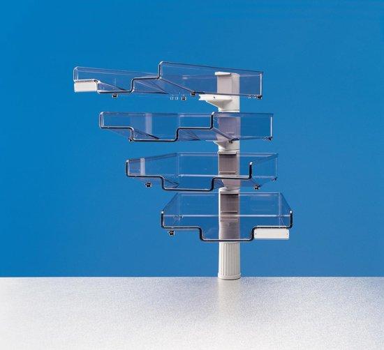 Styro Brievenbakje met 4 brievenbakjes lichtgrijs