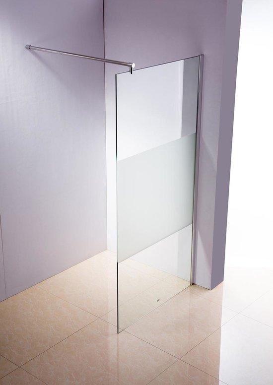 Douchewand 200 X 120.Clp Round Roestvrijstalen Douchewand Nano Glas Semi Matglazen 120 X 200 X 150 Cm