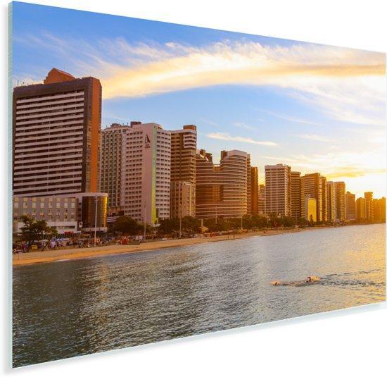 Beira-Mar gebied bij Fortaleza in Brazilië vlak voor de zonsondergang Plexiglas 120x80 cm - Foto print op Glas (Plexiglas wanddecoratie)