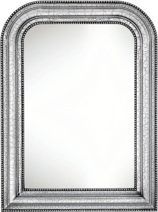 Brocante Zilveren Spiegel.Brocante Toog Spiegel Nigel Buitenmaat 61x82cm Zilver