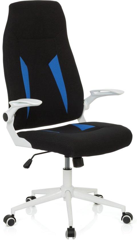 Bureaustoel Stof Zwart.Bol Com Hjh Office Florius Bureaustoel Stof Zwart Blauw