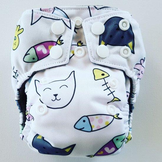AN5 AIO Newborn Pocket luier poes & vis