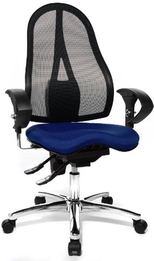 Bureaustoel Blauw Zwart.Topstar Bureaustoel Ergonomische Bureaustoel Sitness 15 Al U2 Blauw Zwart