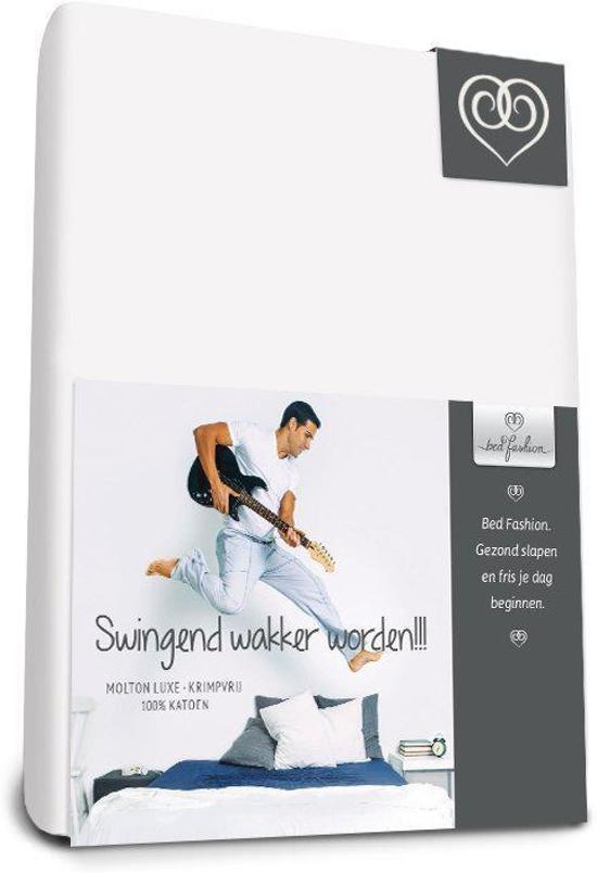 Bed-Fashion molton hoeslaken de luxe, krimpvrij 100 x 220 cm