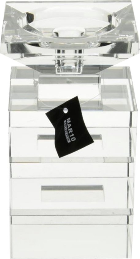 MAR10 Kaarsenhouder Ablis Helder Medium 28cm 100% Kristal Glamour