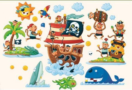 Muurstickers Kinderkamer Piraat.Bol Com Muurstickers Piraten Eiland