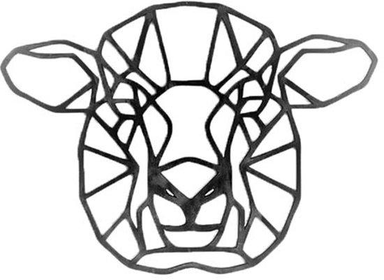 FBRK. Panda 80 x 80 cm  Goud Metallic- Geometrische dieren -Wanddecoratie