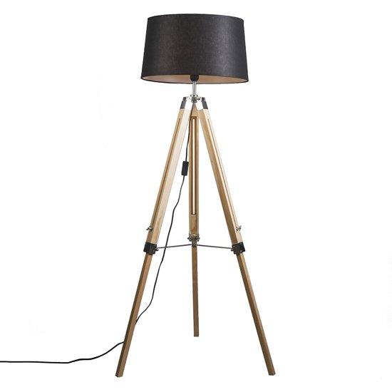 QAZQA Tripod 45 R - Verstelbare vloerlamp - 1 lichts - H 1515 mm - Wit