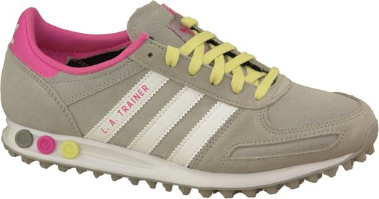 adidas originals sneakers la trainer w dames zwart roze