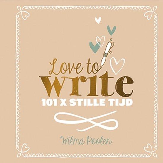 Extreem bol.com   Love to write, Wilma Poolen   9789033817458   Boeken @IJ58