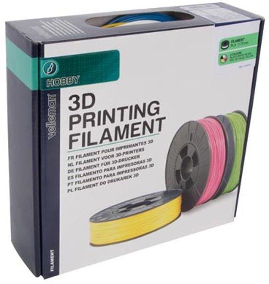 SET MET ABS-FILAMENT 1.75 mm - 6 KLEUREN - VOOR 3D-PRINTER EN 3D-PEN