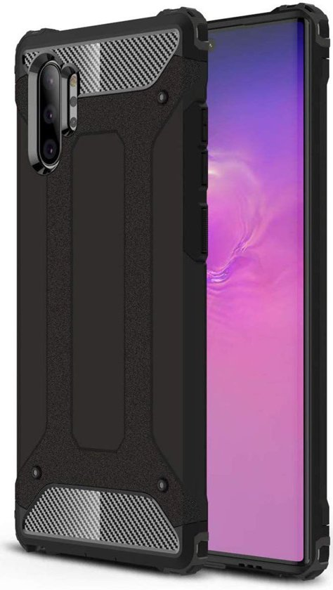 Samsung Galaxy Note 10 Plus Hoesje Shock Proof Hybride Backcover Zwart