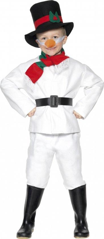 Afbeelding van Kinder sneeuwman kostuum wit 104-116 (3-5 jaar) speelgoed