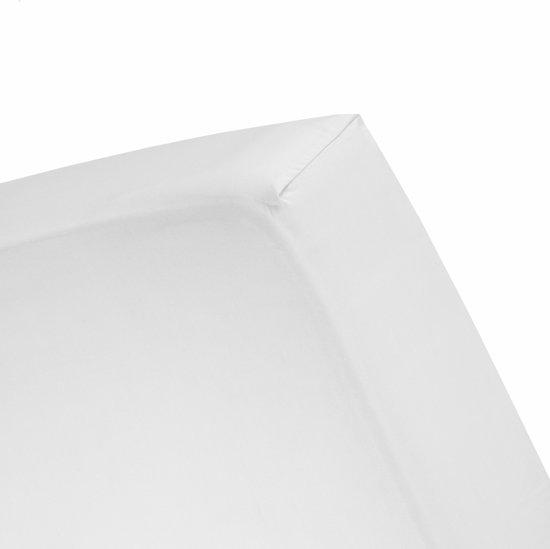 Cinderella - Hoeslaken (tot 25 cm) - Velours - 180 x 200/210/220 cm - White