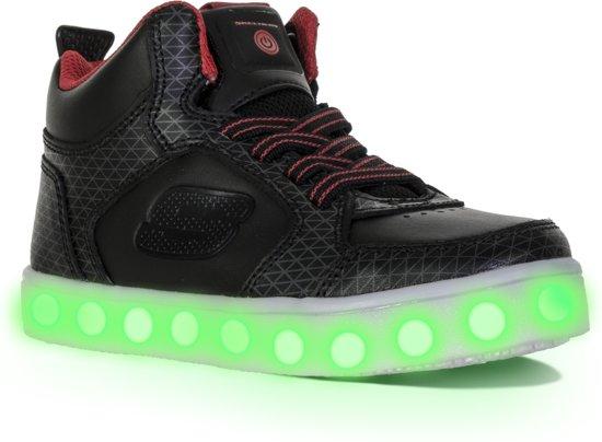 Lumières D'énergie Skechers - Chaussures Tarvos - Taille 29 - Unisexe - Noir / Rouge Gxa5UdiT