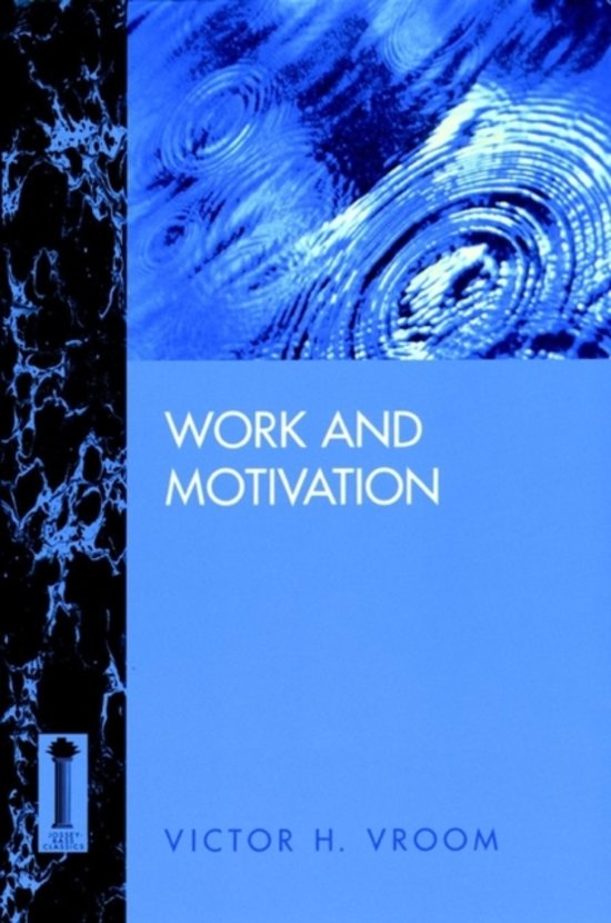 work and motivation victor vroom work and motivation 1964