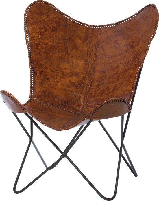 Vlinderstoel Brooklyn brown 93cm