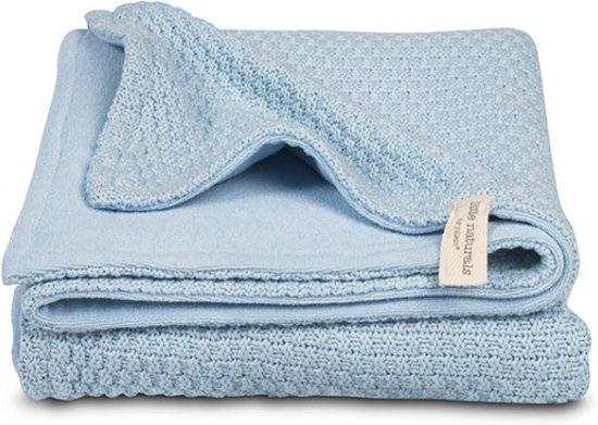 Deken Ledikant Blauw.Jollein Little Naturals Drops Ledikantdeken 4 Seizoenen 100x150 Cm Blauw