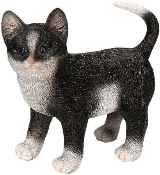 Super bol.com | Dierenbeelden poes/kat zwart/wit staand - Decoratie PW-69