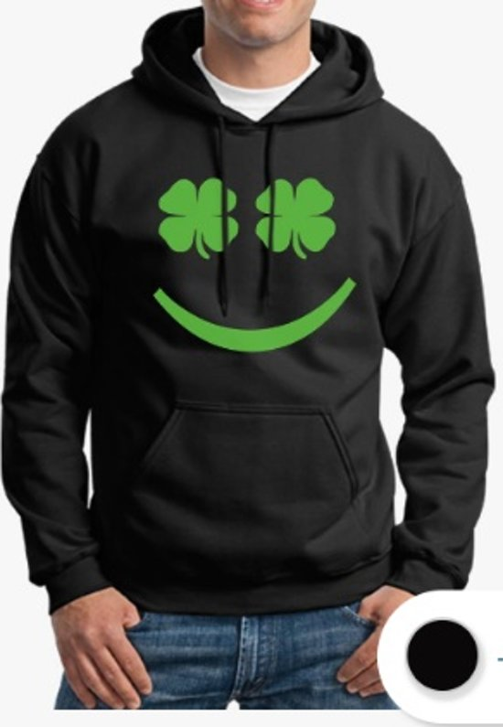 Hippe sweater | Hoodie | Sint Patricks Day | Smiley | maat XL