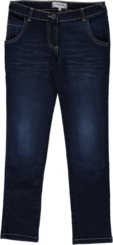 Losan Meisjes Broek Jeans Blauw - h83 - Maat 128