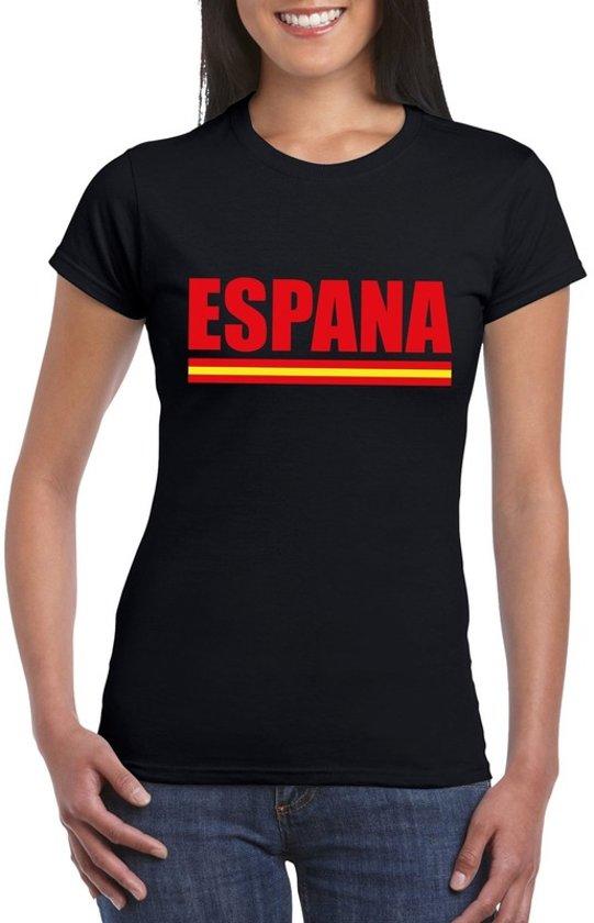 Zwart Spanje supporter shirt dames S