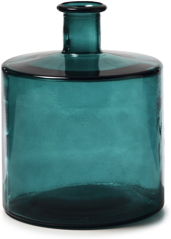 Kave Home Edition - Vaas - Groen - h25 cm - Glas