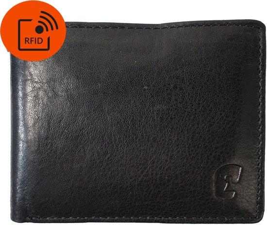 Safekeepers Portemonnee - Leer - Mannen - RFID Skimm Protected - Klein - Compact Design - Zwart