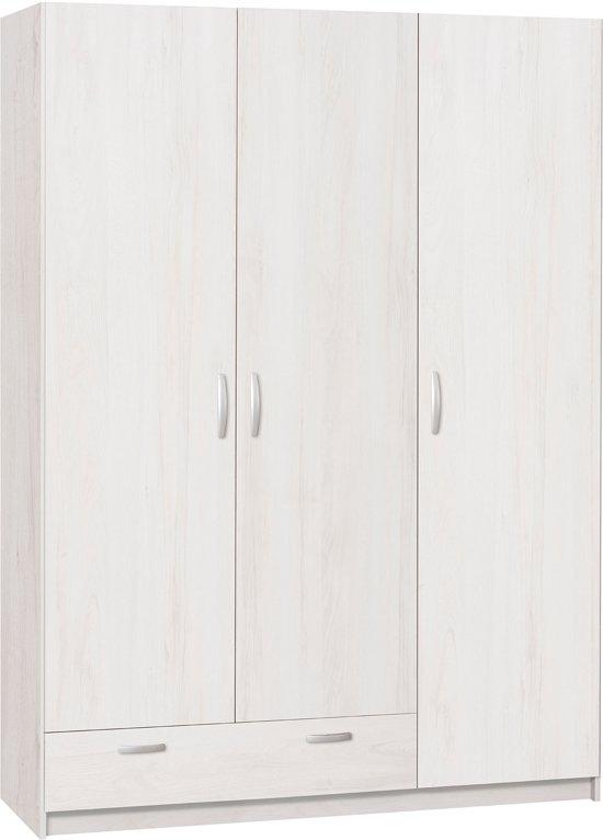 True Furniture Kansas 13R - Kledingkast - Whitewash