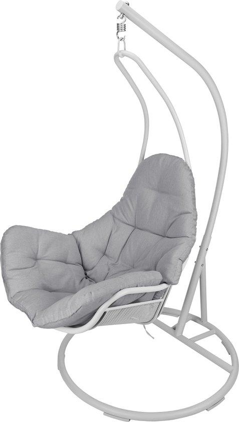 Egg Chair Met Standaard.Bol Com Hangstoel Miami Met Standaard Grijs