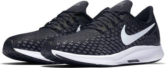 Nike Air Zoom Pegasus 35 Hardloopschoenen Heren - Black/White-Gunsmoke-Oil Grey