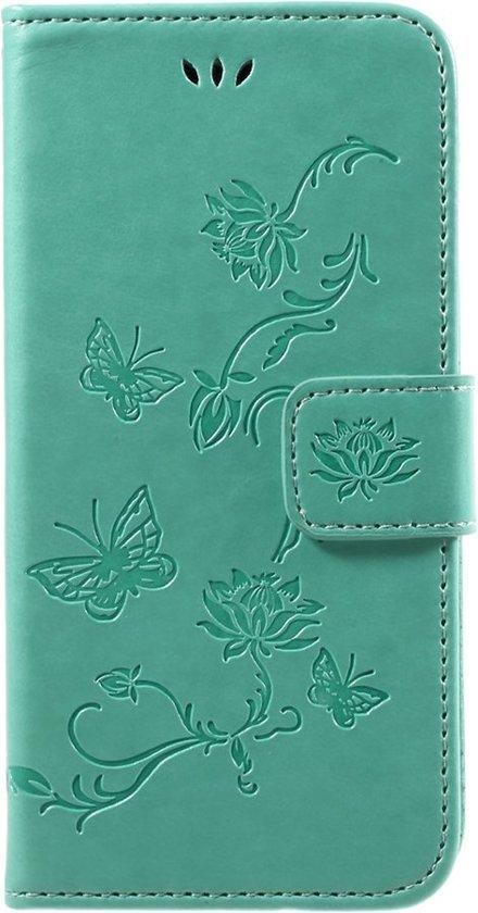Fleurs De Trèfle Turquoise Couverture Booktype Pour Samsung Galaxy J7 (2017) et42ay4