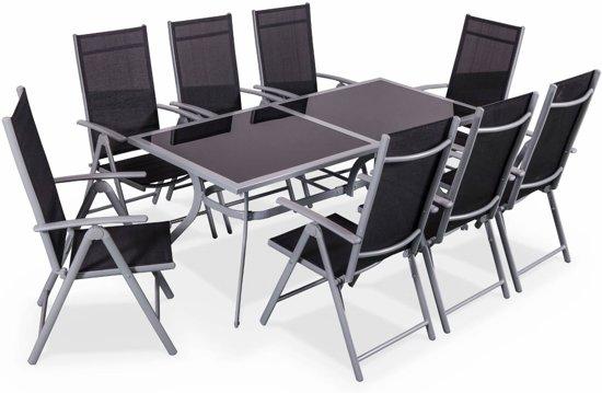 Bol.com tuintafel 8 stoelen van aluminium en textileen