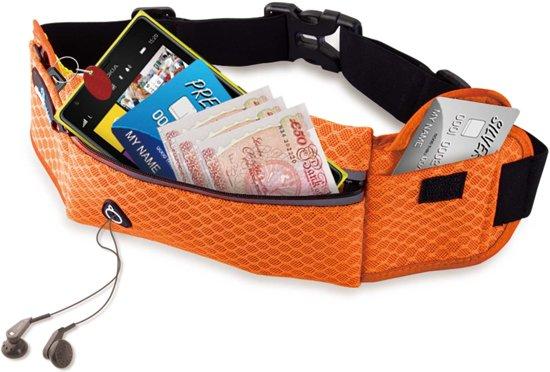 #DoYourFitness - Loopriem - »RunHero« - heuptas / ritszak voor hardlopen ,elastisch, waterdicht - mobiele telefoon tot ca. 5,5 inch - oranje