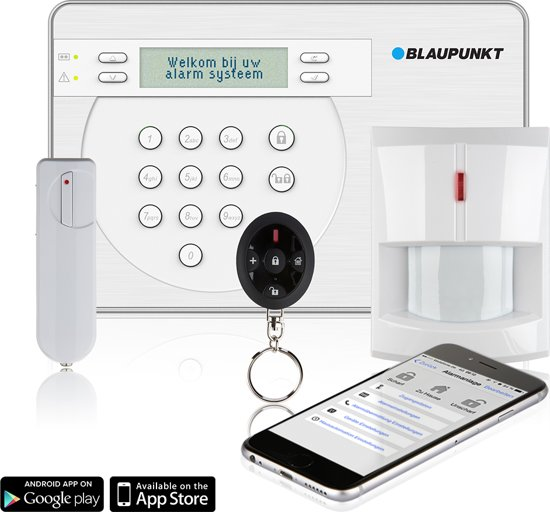 Blaupunkt SA2900-R Smart GSM Draadloos Alarm Systeem - Eenvoudig te installeren - Best Geteste serie