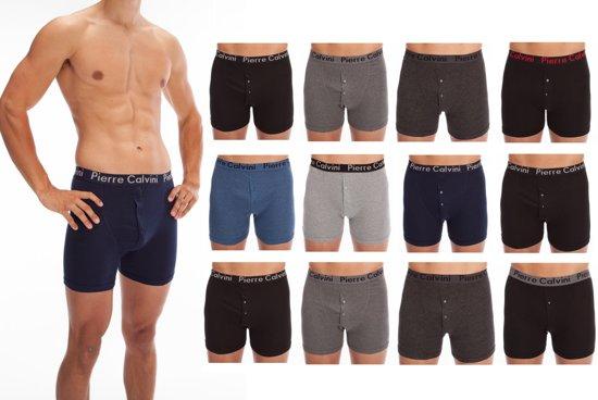Pierre Calvini Boxershorts - heren - 12 pack herenboxers - diverse kleuren - maat L