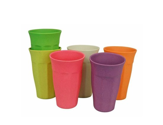 Zuperzozial Cupful Of Colour Bekers 0,4 L - Set van 6