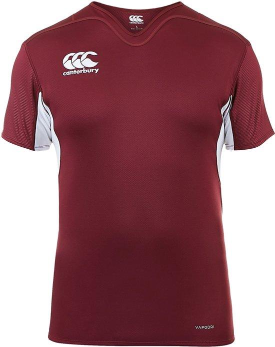 Challenge Canterbury wit Rugby Xl Jersey Heren Sportshirt Vapodri Rood Mannen PerformanceMaat WEDH2I9