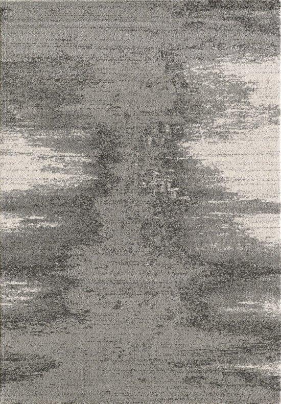 Vloerkleed luna grijs laagpolig tapijt 200x290 cm - Grijs tapijt ...