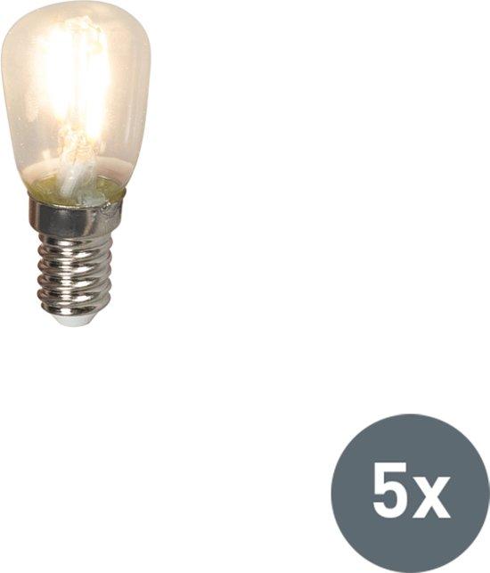 Calex Set van 5 LED filament schakelbordlamp E14 240V 1W 100lm T26
